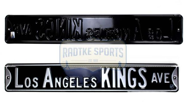 Los Angeles Kings Avenue Officially Licensed Authentic Steel 36x6 Black & White NHL Street Sign-0