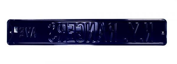 New York Rangers Avenue Officially Licensed Authentic Steel 36x6 Blue & Red NHL Street Sign-21458