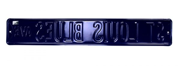 St. Louis Blues Avenue Officially Licensed Authentic Steel 36x6 Blue & Yellow NHL Street Sign-21464