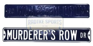 New York Yankees Murderer's Row Blvd Officially Licensed Authentic Steel 36x6 Blue & White MLB Street Sign-0