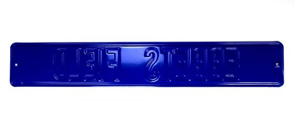 Los Angeles Dodgers Ebbets Field Officially Licensed Authentic Steel 36x6 Blue & White MLB Street Sign-21473