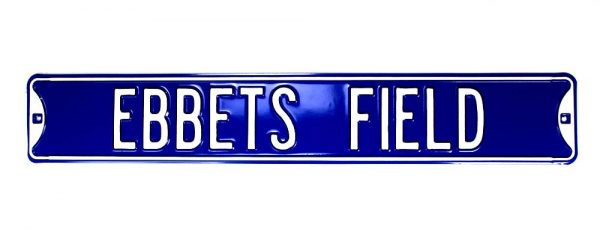 Los Angeles Dodgers Ebbets Field Officially Licensed Authentic Steel 36x6 Blue & White MLB Street Sign-21471