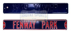 Boston Red Sox Fenway Park Officially Licensed Authentic Steel 36x6 Blue & Red MLB Street Sign-0
