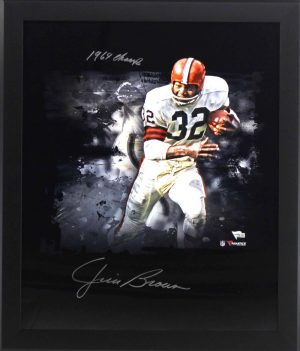 """Jim Brown Signed Cleveland Browns Framed 20x24 NFL Photo With """"1964 Champs"""" Inscription-0"""