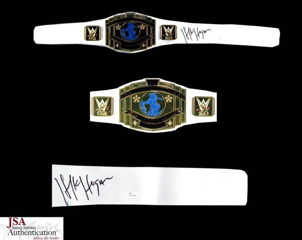 "Terry ""Hulk"" Hogan Signed WWE Championship White Wrestling Belt-0"