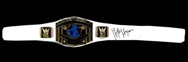 "Terry ""Hulk"" Hogan Signed WWE Championship White Wrestling Belt-22272"