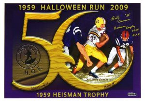 "Billy Cannon Signed LSU Tigers 14x20 NCAA Halloween Run Photo With ""Heisman Trophy 1959, HOF"" Inscription - Limited Edition of 100-0"
