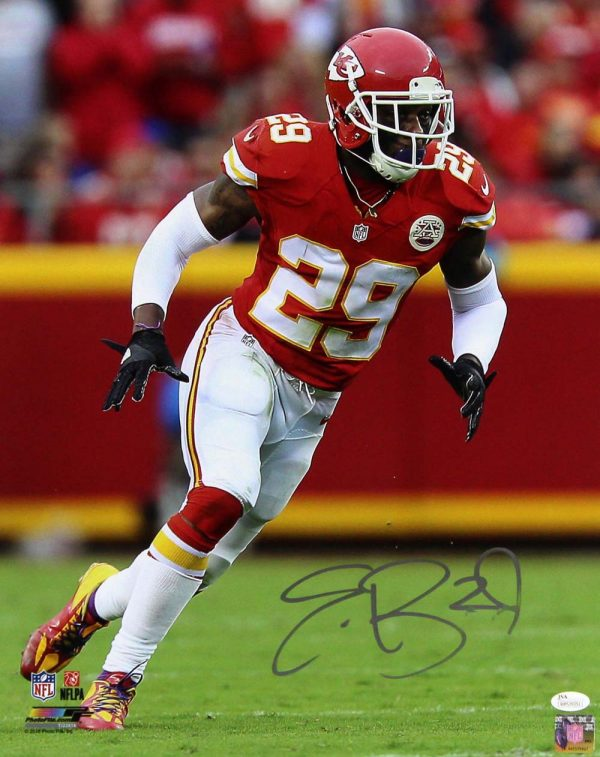 Eric Berry Signed Kansas City Chiefs 16x20 NFL Photo - Red Jersey -0