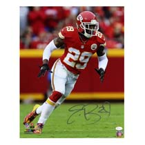 Eric Berry Signed Kansas City Chiefs 16x20 NFL Photo - Red Jersey -23324