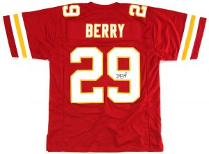 Eric Berry Signed Kansas City Chiefs Red Custom Jersey -0