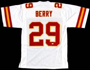 Eric Berry Signed Kansas City Chiefs White Custom Jersey-0