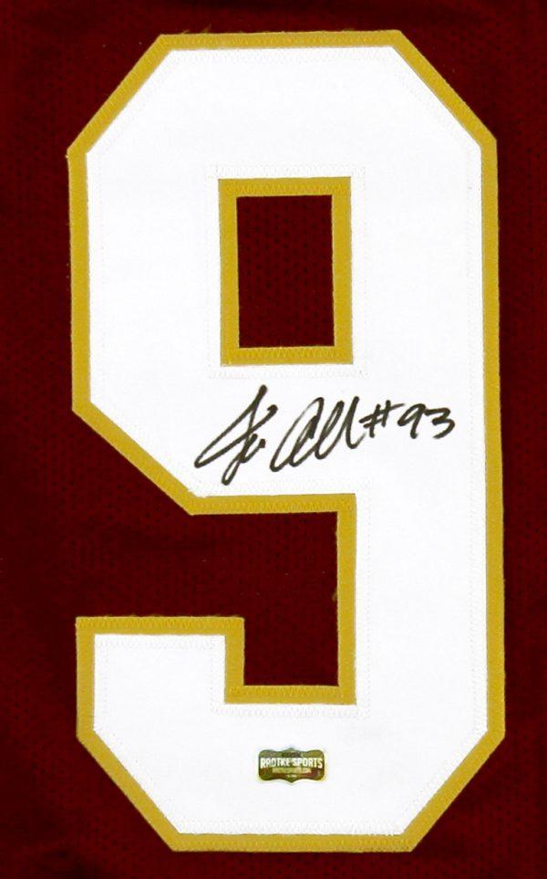 sale retailer 4dcaa 7f00c Jonathan Allen Signed Washington Custom Red Jersey