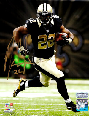 Mark Ingram Signed New Orleans Saints 8x10 NFL Photo - Black Jersey Running-0