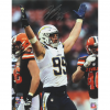 Joey Bosa Signed NFL Los Angeles Chargers 16x20 Photo - Silver Ink-23061