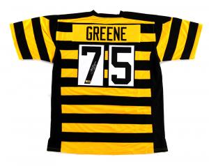 "Joe Greene Signed Pittsburgh Steelers Custom Bumblebee Jersey with ""HOF 87"" Inscription-0"