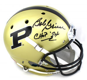 "Bob Griese Signed Purdue Boilermakers NCAA Schutt Full Size Helmet with ""CHOF 84"" Inscription-0"