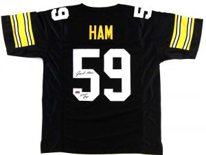 "Jack Ham Signed Pittsburgh Steelers Black Custom Jersey With ""HOF 88"" Inscription-0"