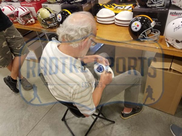 "Jack Ham Signed Pittsburgh Steelers Embroidered NFL Football With ""HOF 88"" Inscription -22619"