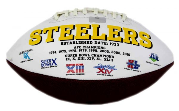 "Jack Ham Signed Pittsburgh Steelers Embroidered NFL Football With ""HOF 88"" Inscription -22620"