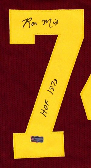 """Ron Mix Signed USC Trojans Red Custom Jersey With """"HOF 79"""" Inscription -0"""