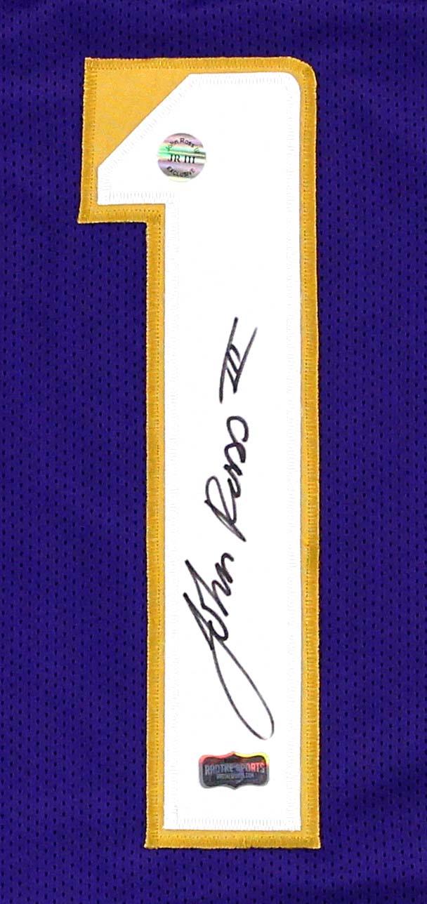 John Ross Signed Washington Huskies Purple Custom Jersey