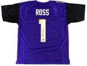 John Ross Signed Washington Huskies Purple Custom Jersey -0