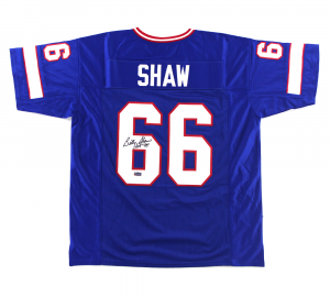 "Billy Shaw Signed Buffalo Bills Blue Custom Jersey with ""HOF 99"" Inscription-0"