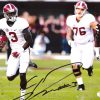Calvin Ridley Signed Alabama Crimson Tide NCAA 8x10 Photo - White Jersey - Running-0