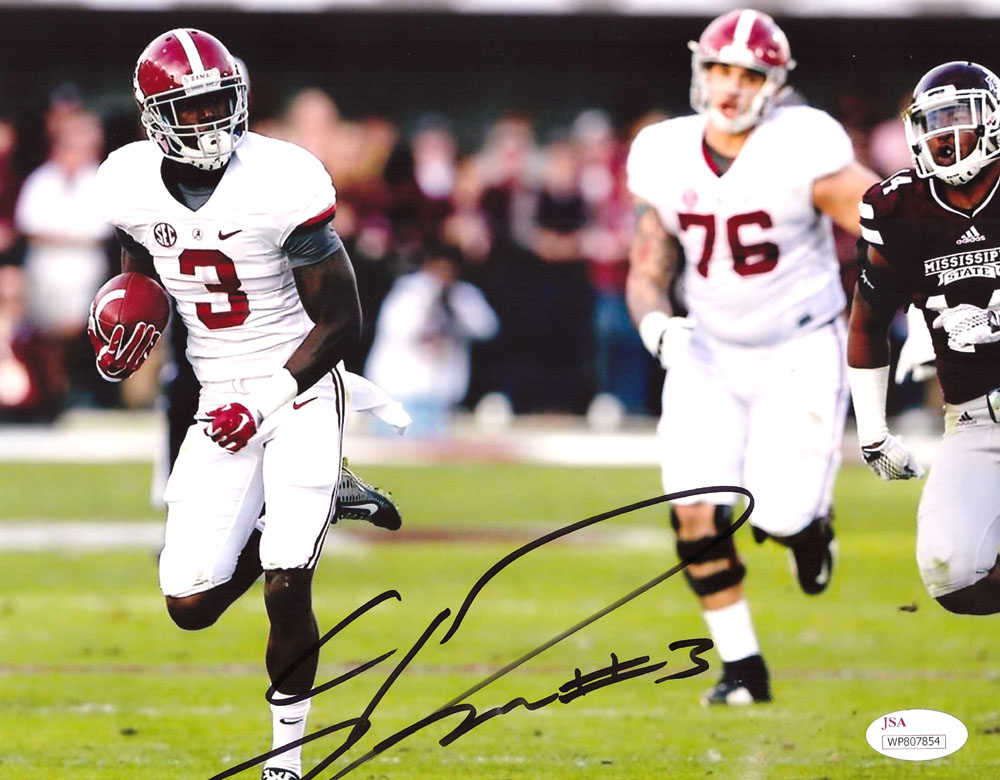 finest selection e5b10 8a4b2 Calvin Ridley Signed Alabama Crimson Tide NCAA 8x10 Photo - White Jersey -  Running