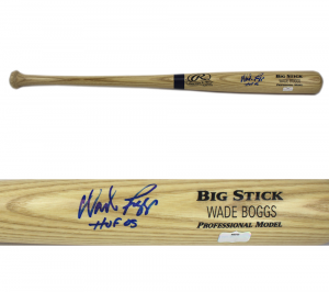"Wade Boggs Signed MLB Rawlings Engraved Blonde Bat With ""HOF 05"" Inscription - Boston Red Sox-0"