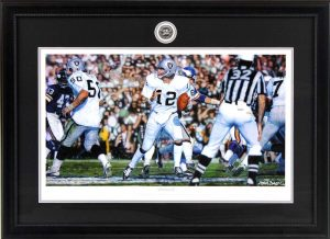 "Steve Skipper Collection - ""Undeniable"" - Ken Stabler Oakland Raiders Framed Commemorative Regular Edition Lithograph - Limited Edition -0"