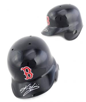 Kevin Youkilis Signed Rawlings MLB Boston Red Sox Batting Helmet-0