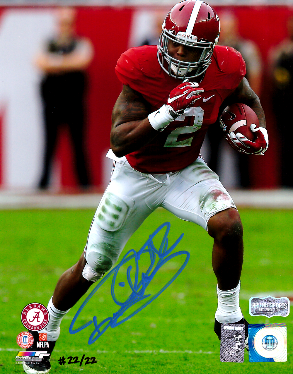official photos c30a4 12bcf Derrick Henry Signed Alabama Crimson Tide Color 8x10 Photo - Red Jersey -  Limited Edition 22 Of 22
