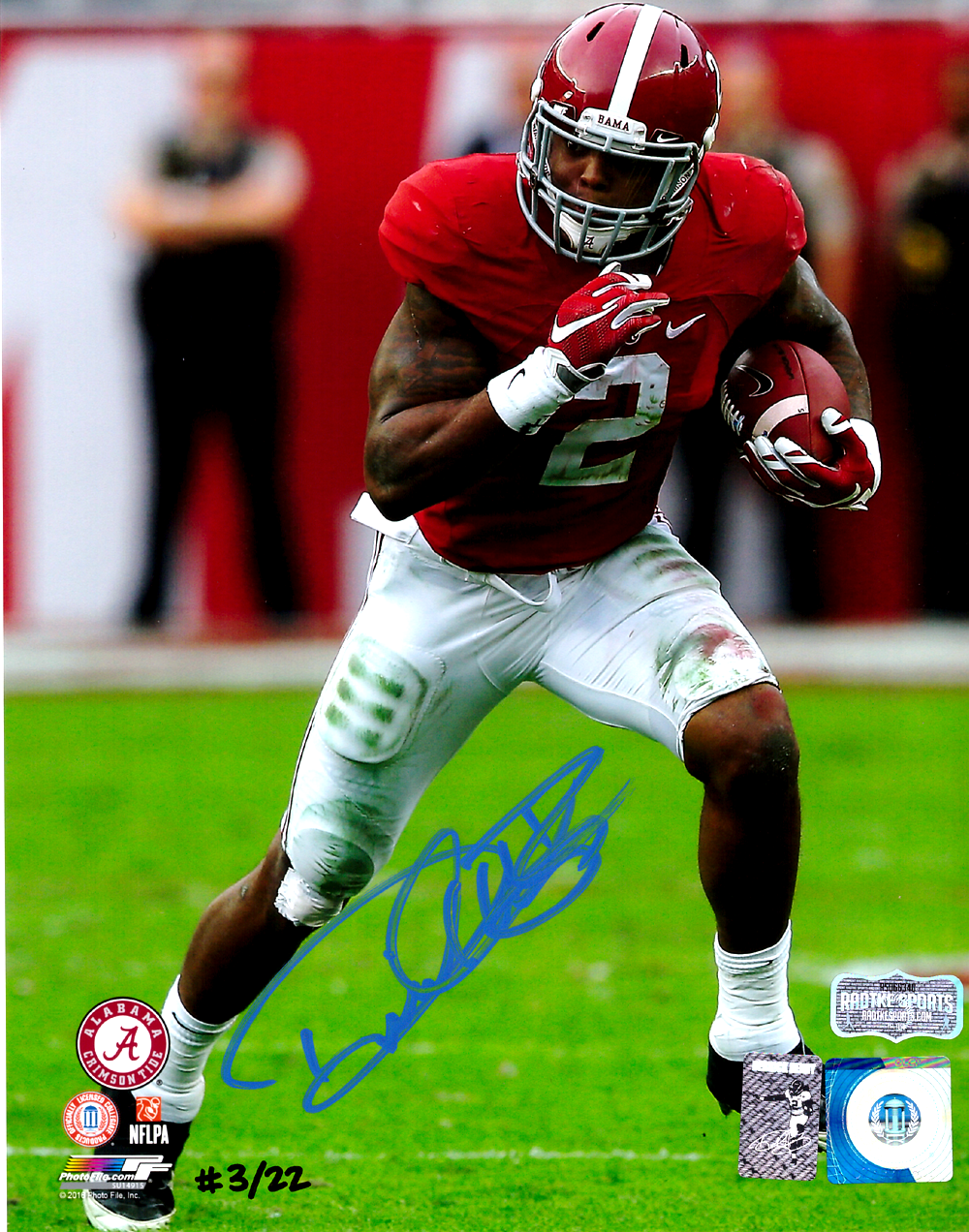 the best attitude 03b09 6be4d Derrick Henry Signed Alabama Crimson Tide Color 8x10 Photo - Red Jersey -  Limited Edition Of 22