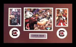 "Connor Shaw Signed South Carolina Gamecocks Framed 8x10 NCAA Photo With ""17-0 Home Record"" Inscription -0"