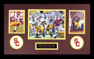 Reggie Bush Signed USC Trojans Framed 8x10 Photo - Heisman Pose-0