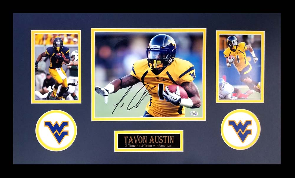huge selection of f996e a71a9 Tavon Austin Signed West Virginia Mountaineers Framed 8x10 Photo