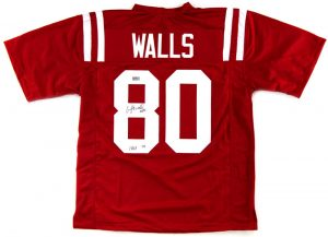 "Wesley Walls Signed Ole Miss Rebels Red Custom Jersey With ""CHOF 2014"" Inscription -0"