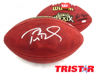 Tom Brady Autographed/Signed New England Patriots Wilson Authentic Super Bowl 39 NFL Football - Tristar-0