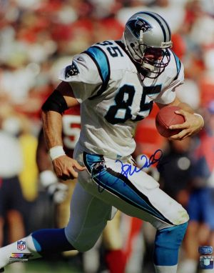 Wesley Walls Signed Carolina Panthers 16x20 NFL Photo - Running-0