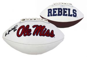 Wesley Walls Signed Ole Miss Rebels Embroidered NCAA Football-0