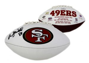 Wesley Walls Signed San Francisco 49ers Embroidered NFL Football-0