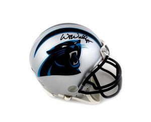 Wesley Walls Signed Carolina Panthers Riddell Mini Helmet -0