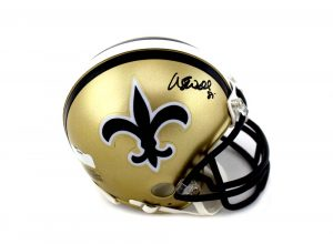 Wesley Walls Signed New Orleans Saints Riddell Mini Helmet-0