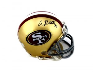Wesley Walls Signed San Francisco 49ers Riddell Mini Helmet-0
