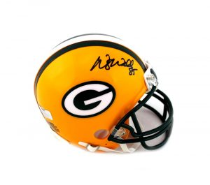 Wesley Walls Signed Green Bay Packers Riddell Mini Helmet-0