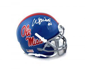 Wesley Walls Signed Ole Miss Rebels Schutt NCAA Mini Helmet -0