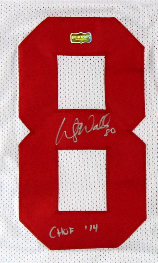 """Wesley Walls Signed Ole Miss Rebels White Custom Jersey With """"CHOF 2014"""" Inscription-23715"""