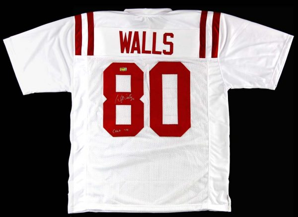 """Wesley Walls Signed Ole Miss Rebels White Custom Jersey With """"CHOF 2014"""" Inscription-0"""