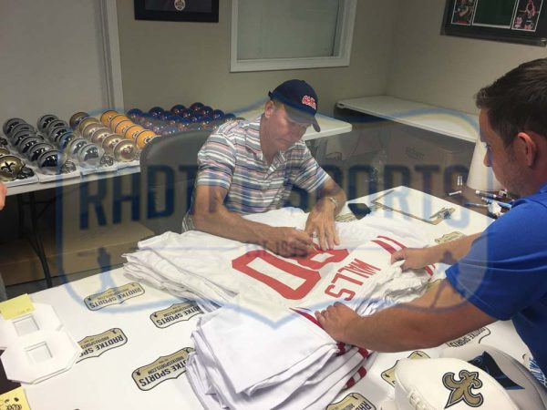 """Wesley Walls Signed Ole Miss Rebels White Custom Jersey With """"CHOF 2014"""" Inscription-23717"""